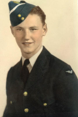 Flight Sergeant John Ernest Fitzgerald, Air Gunner, photo from The Canadian Letters and Images Project