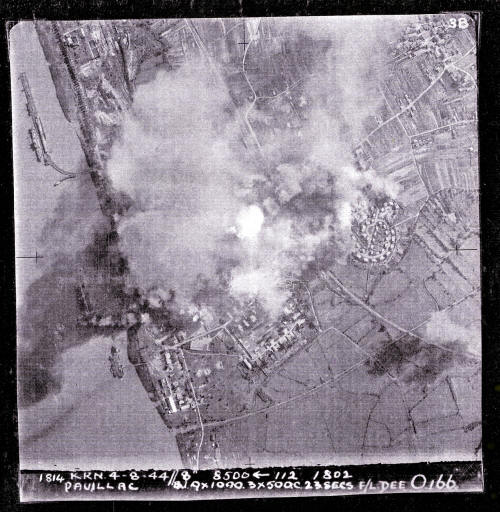 This Photo is taken by the Crew on a Mission the 4th - 5th August 1944